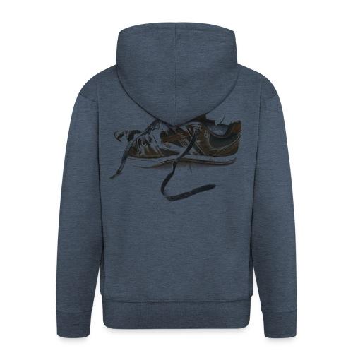 shoe (Saw) - Men's Premium Hooded Jacket