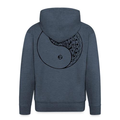mandala yin yang - Chaqueta con capucha premium hombre