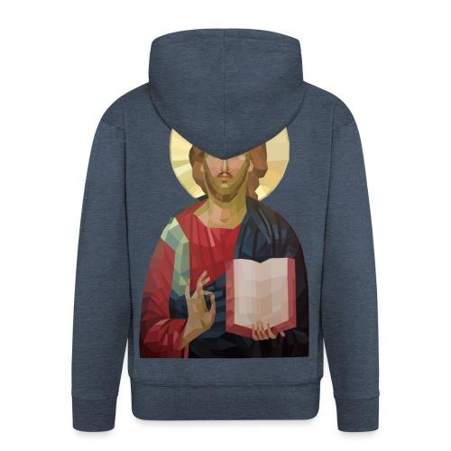 Abstract Jesus - Men's Premium Hooded Jacket