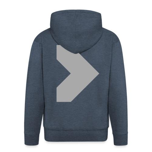 dubtrxx_logo__aluminium - Men's Premium Hooded Jacket