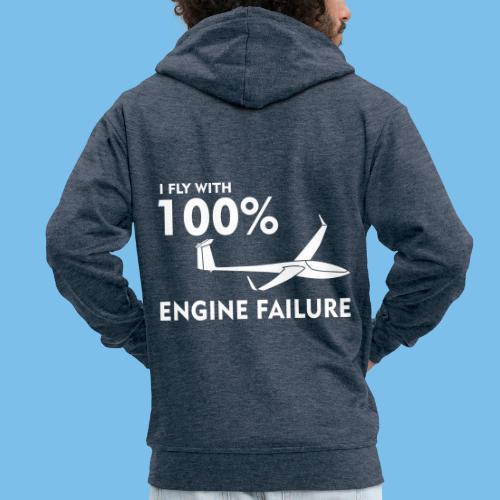 Motor Segelflugzeug lustig gleiten Segelflieger - Männer Premium Kapuzenjacke