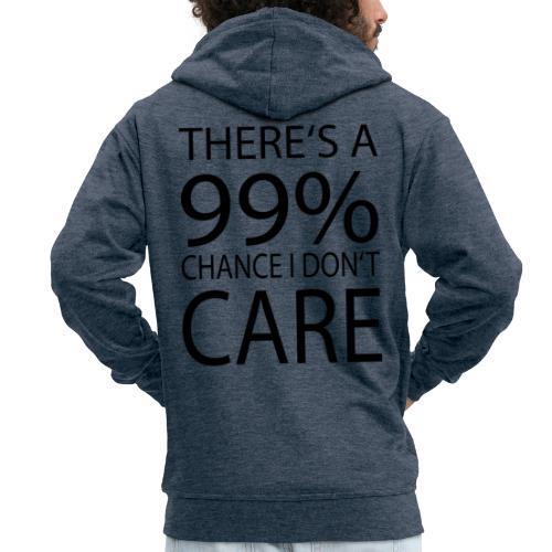 Ist mir egal lustiges Design Sarkasmus - Männer Premium Kapuzenjacke