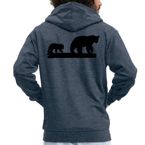 Bären Bär Grizzly Wildnis Natur Raubtier - Männer Premium Kapuzenjacke