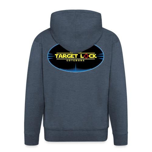 Target Lock Tryck på ljus bakgrund - Premium-Luvjacka herr