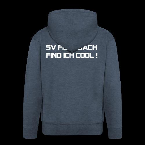 SVF-find-ich-cool_weiss - Männer Premium Kapuzenjacke