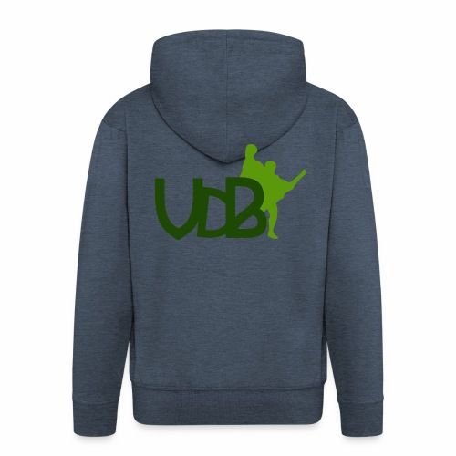 VdB green - Felpa con zip Premium da uomo