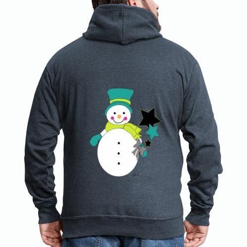Snowtime-Green - Männer Premium Kapuzenjacke
