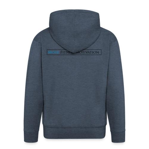 Fitness Motivatie shirt wit/groen - Men's Premium Hooded Jacket
