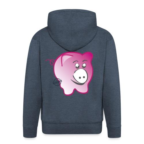 Pig - Symbols of Happiness - Men's Premium Hooded Jacket