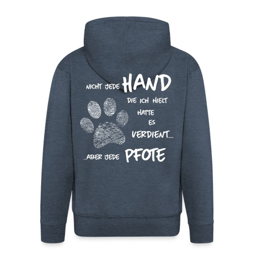 Hand Pfote Hund - Männer Premium Kapuzenjacke