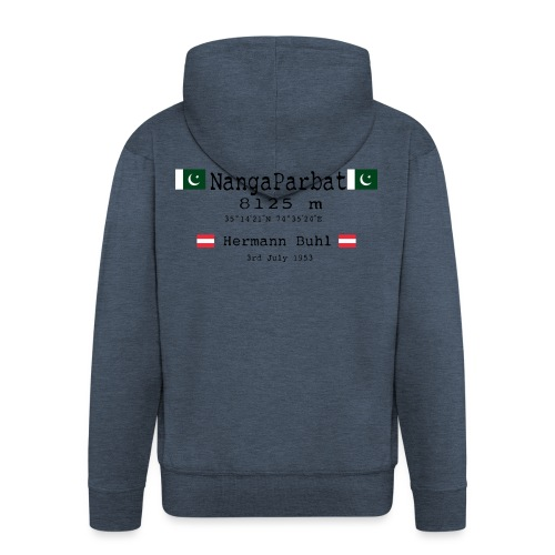 NangaPArbat20-01Black - Felpa con zip Premium da uomo