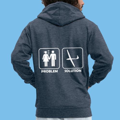 Segelflieger Problem lustiges Motiv Segelflugzeug - Männer Premium Kapuzenjacke
