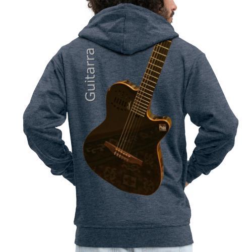 Guitarra inclinada - Chaqueta con capucha premium hombre
