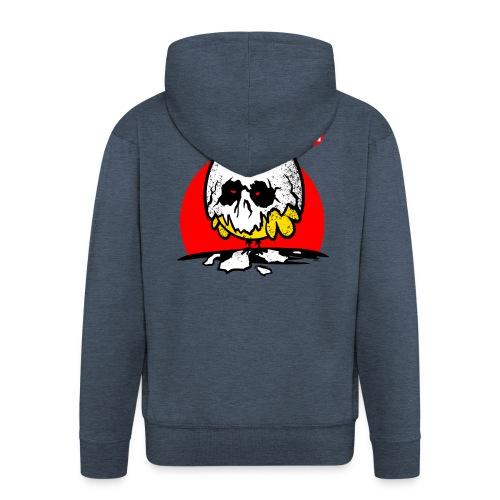 Eggshell skull - easter egg - Men's Premium Hooded Jacket