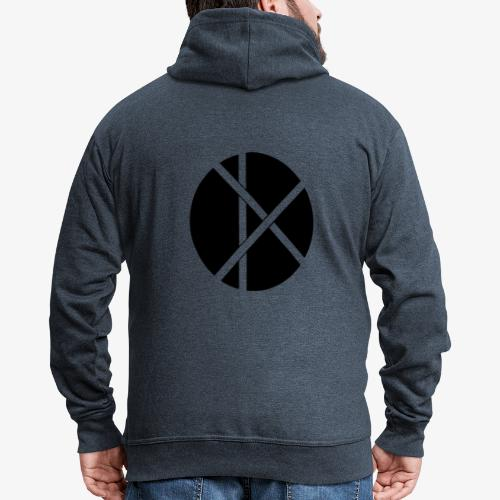 Don Logo - musta - Miesten premium vetoketjullinen huppari