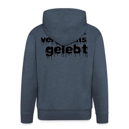 Vergebens gelebt (JESUS shirts) - Men's Premium Hooded Jacket