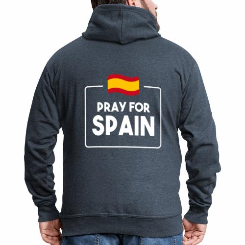 Pray for Spain (dark) - Men's Premium Hooded Jacket