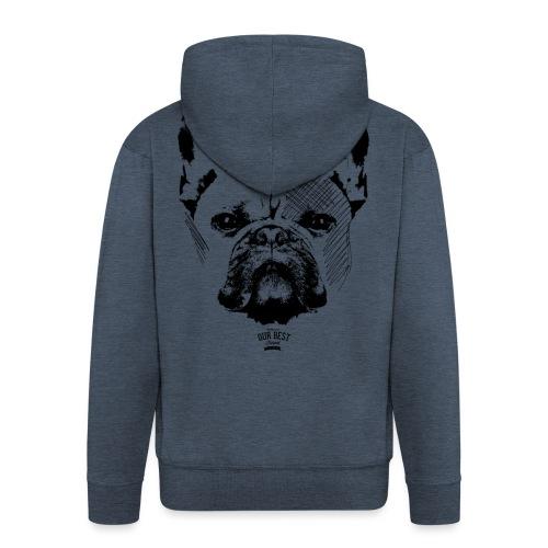 Französische Bulldogge Sketch - Männer Premium Kapuzenjacke