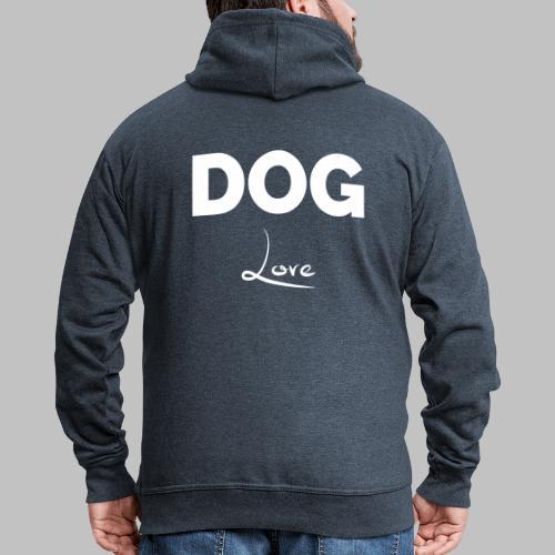 DOG LOVE - Geschenkidee für Hundebesitzer - Männer Premium Kapuzenjacke
