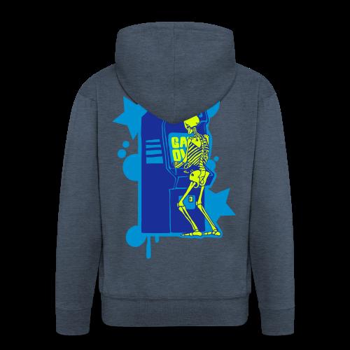 Hi-Score Blue - Rozpinana bluza męska z kapturem Premium