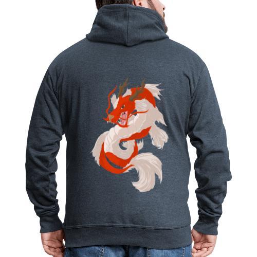 Dragon koi - Felpa con zip Premium da uomo
