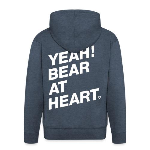 Yeah Bear at Heart - Männer Premium Kapuzenjacke
