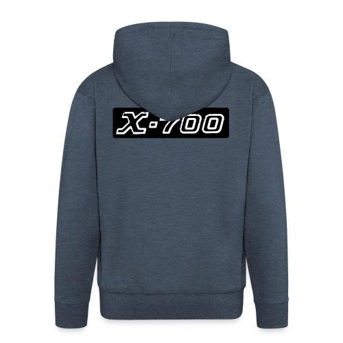 Minolta X-700 - Felpa con zip Premium da uomo