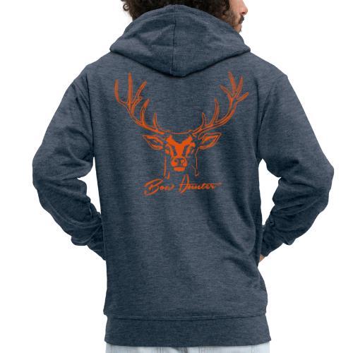 hirsch bow hunter - Männer Premium Kapuzenjacke
