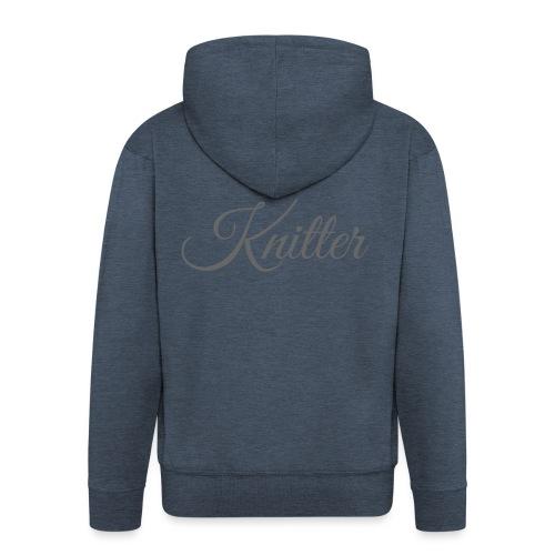 Knitter, dark gray - Men's Premium Hooded Jacket