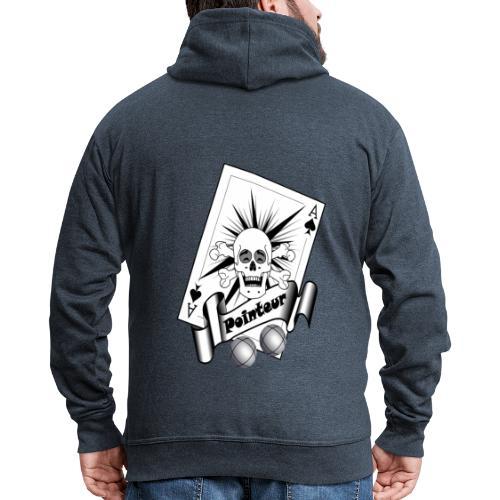 t shirt petanque pointeur crane rieur boules - Veste à capuche Premium Homme