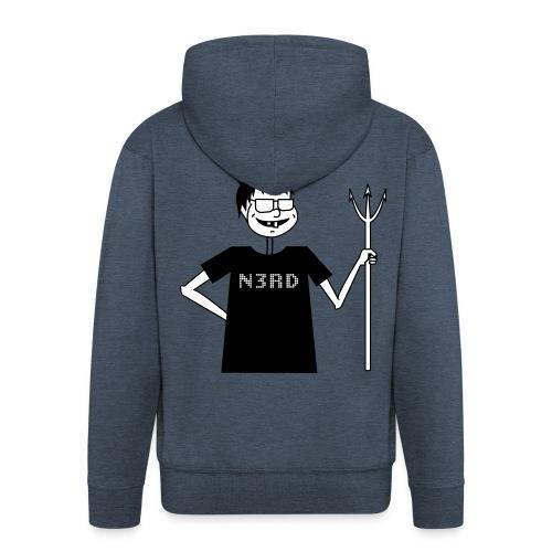 Evil Nerd - Männer Premium Kapuzenjacke