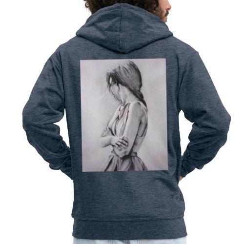 Dame portret - Männer Premium Kapuzenjacke