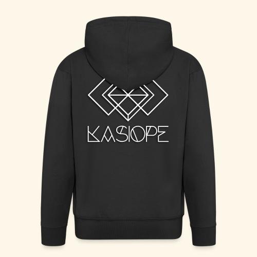 Logo Kasiope blanc - Veste à capuche Premium Homme