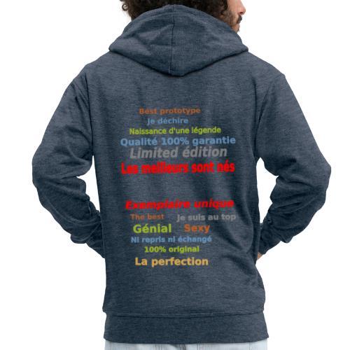 t shirt les meilleurs sont nés sweat shirt et mugs - Veste à capuche Premium Homme