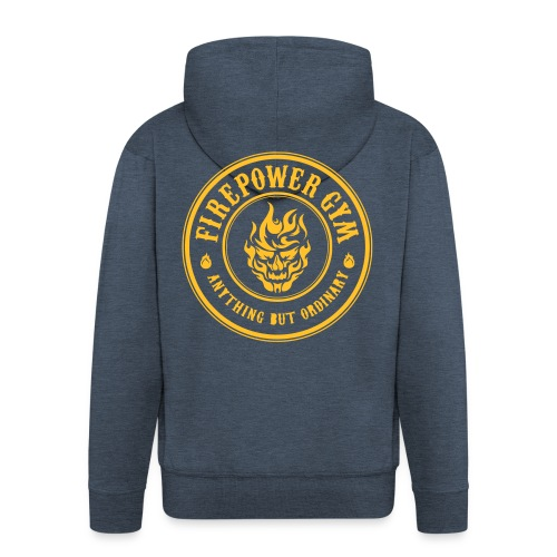 Firepower Gym Logo - Men's Premium Hooded Jacket