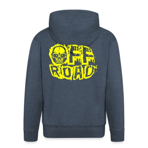 11A-12 OFF ROAD SKULL Textiles and gift products - Miesten premium vetoketjullinen huppari