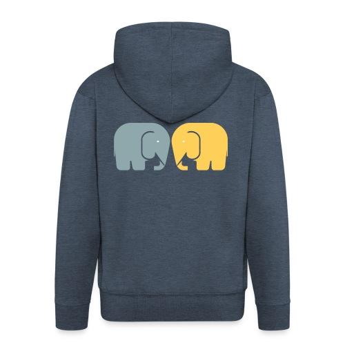 Vi två elefanter - Premium-Luvjacka herr