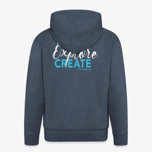 Travel explore create hellblau weiss - Männer Premium Kapuzenjacke