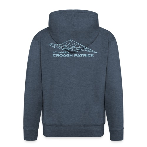 I climbed Croagh Patrick Geometric Design - Men's Premium Hooded Jacket