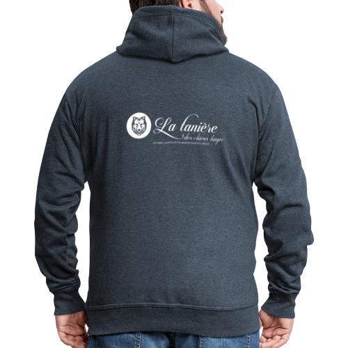 La Tanière des Chiens-Loups (logo plus grand) - Veste à capuche Premium Homme