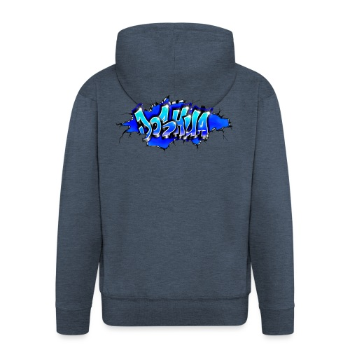 GRAFFITI JOSHUA WALL BROKEN BLUE - Veste à capuche Premium Homme