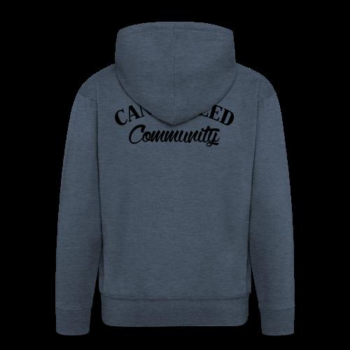 noir sur blanc CWD Communauté - Veste à capuche Premium Homme