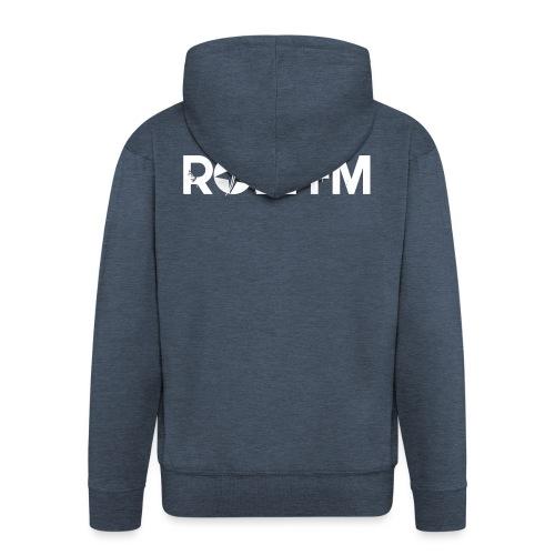 Roll FM - White - Miesten premium vetoketjullinen huppari