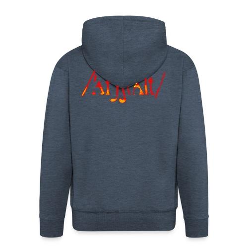 logo gerastert (flamme) - Männer Premium Kapuzenjacke
