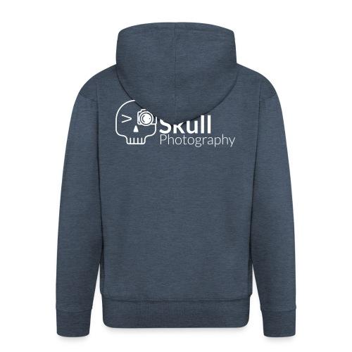 Skull Photography Weisses Logo - Männer Premium Kapuzenjacke