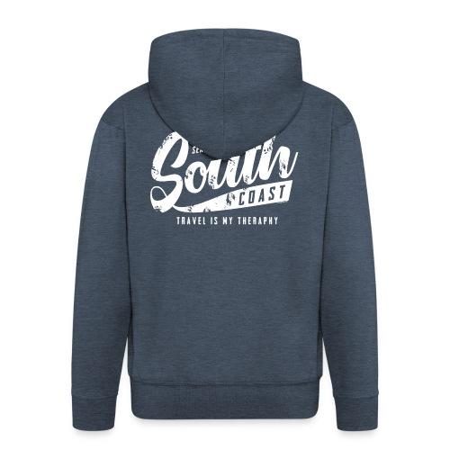 South Coast Sea surf clothes and gifts GP1305A - Miesten premium vetoketjullinen huppari