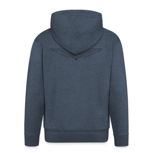 Black - Men's Premium Hooded Jacket