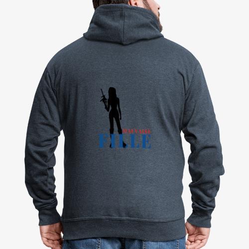 Mauvaise fille (bad girl) - Veste à capuche Premium Homme