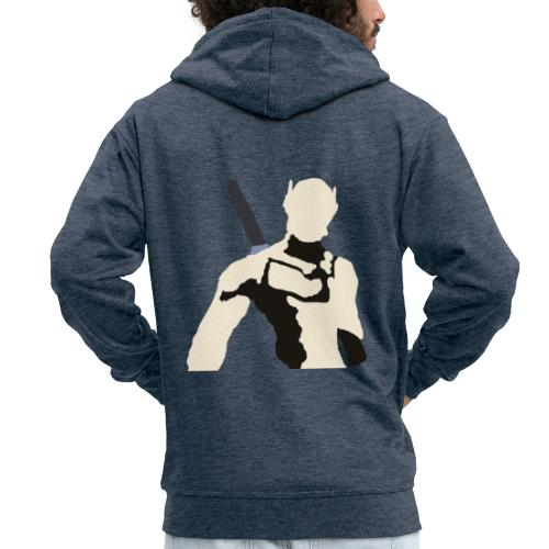 Genji - Rozpinana bluza męska z kapturem Premium