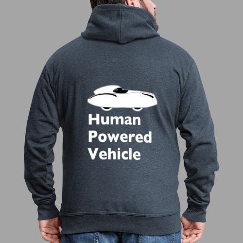 Quattrovelo Human Powered Vehicle white - Miesten premium vetoketjullinen huppari